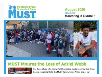 August 2020 Newsletter Cover