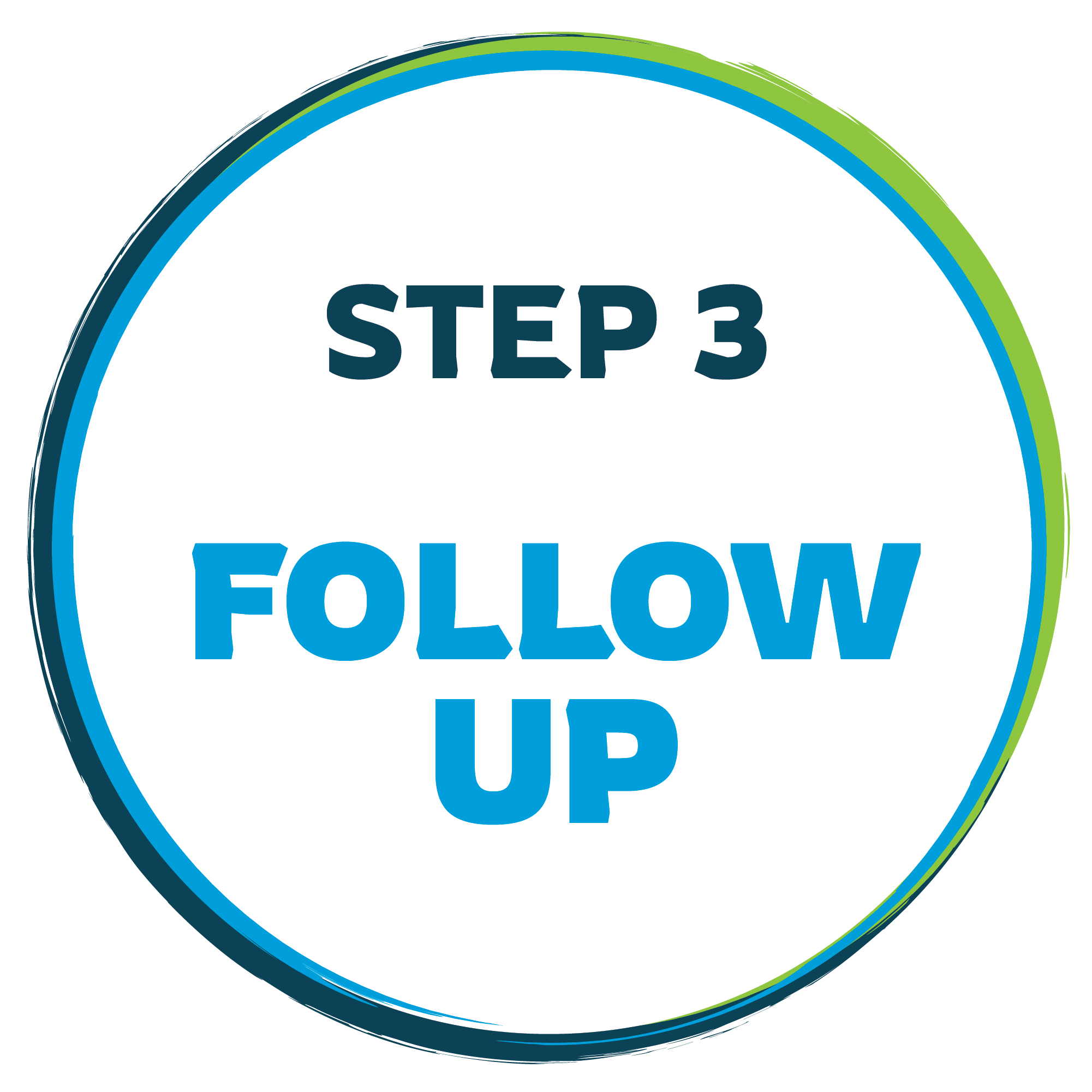 step 3 follow up graphic